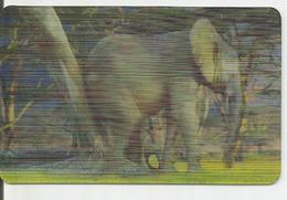 """Carte Hologramme """" Eléphant D'Afrique """" N°31/44 Des Magasins Match Et Cora - Autres"""