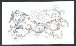 """Carte Porcelaine """" Mr Et Mme Edouard Van Hifte"""" / Bruges   Ange    9,5 X 5,5 Cm - Brugge"""