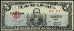 CUBA 1949 - 1 PESO CERTIFICADO DE LA PLATA - RARE - OFFERT!!!! - Cuba