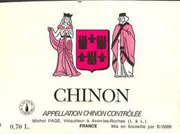 Chinon - Michel Page, Avon-les-Roches - Etiquettes