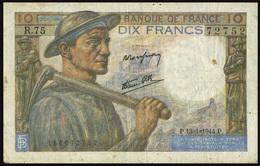 FRANCE 1944 - 10 FRANCS MINEUR - 13-1-1944 - OFFERT!!!! - 1871-1952 Anciens Francs Circulés Au XXème