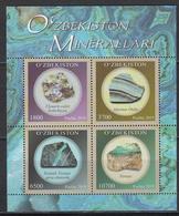 Uz 1358-61 Bl.96 Uzbekistan Usbekistan 2019 Minerals M - Mineralien