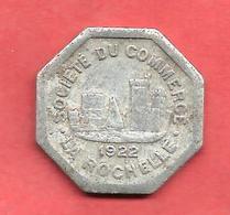 SOCIETE Du  COMMERCE , LA ROCHELLE , 1922 , 25 Cts. - Notgeld