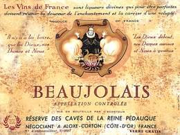 Beaujolais Réserve Des Caves De La Reine Pédauque Aloxe-Corton - Etiquettes
