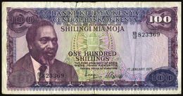 KENIA 1975 - 100 SHILLING - PICK 14b - OFFERT!!!! - Kenia