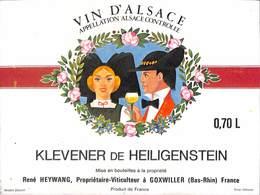 Vin D'Alsace - Klevener De Heiligenstein, René Heywang, Goxwiller - Etiquettes