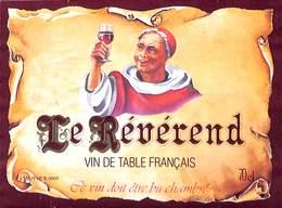Le Révérend - Vin De Table Français - Etiquettes