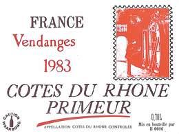 Côtes Du Rhône Primeur Vendanges 1983 - Etiquettes