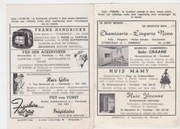 TURNHOUT-CINE-FORUM-CAROLL BECKER+HEATHER ANGEL-PRACHTIGE RECLAME EIND JAREN'50-AFMETINGEN+-10-14CM-ZIE 2 SCANS-RARE! ! - Publicité Cinématographique