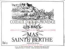 Coteaux D'Aix-en-Provence - Les Baux Mas Sainte Berthe - Etiquettes