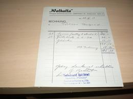 Walhalla Rechnung Inhaber Bernhard Bechtek Ludwigshafen S Rh Oggersheimer Strasse 29 - Allemagne