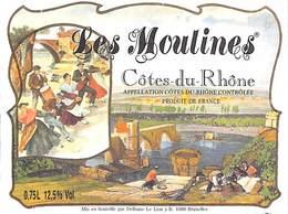 Côtes-du-Rhône - Les Moulines - Etiquettes