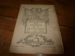 1917  BAR :Au Seuil Du 4e Hiver; L'esprit Goguenard En Belgique; L'argot Dans Les Tranchées Allemandes;Tagliamento ;etc - Français