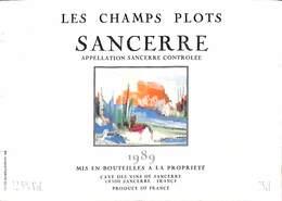 Les Champs Plots - Sancerre 1989 - Etiquettes