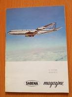 SABENA A VOTRE SERVICE Magazine Janvier 1962 - Avion