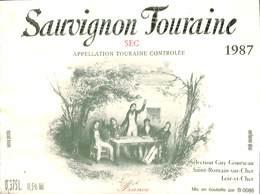 Sauvignon Touraine, Sec 1987, Saint-Romain-sur-Cher - Etiquettes