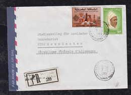 Marokko Morocco 1989 Registered Cover CASABLANCA To NEUMUENSTER Germany Schach Chess Stamp - Marruecos (1956-...)