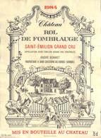 Château Rol De Fombrauge - Saint Emilion 1984 André Bonnet - Etiquettes