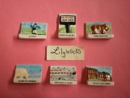 Serie Complète De 6 Fèves Perso - OCTEVILLE SUR MER - JOURDAIN 2005 ( Feve Figurine Miniature ) - Regio's