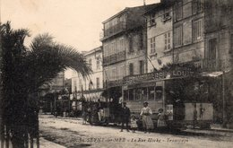 83 LA SEYNE SUR MER RUE HOCHE ANIMEE TRAMWAY TOULON LA SEYNE LES SABLETTES+ PUBS - La Seyne-sur-Mer
