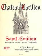 Château Carillon - Sain-Emilion 1982 - Régis Visage - Etiquettes
