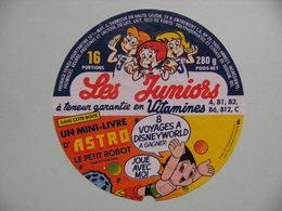 """Etiquette Fromage Fondu - Les Juniors -16 Portions Entremont Pub """"ASTRO Petit Robot"""" 74R - Hte-Savoie  A Voir ! - Cheese"""