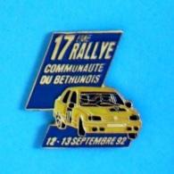1 PIN'S //  ** 17ème RALLYE COMMUNAUTÉ DU BÉTHUNOIS / SEPTEMBRE '92 ** - Rallye