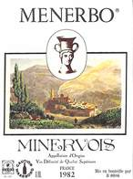 Menerbo Minervois 1982 - Etiquettes