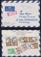 Ägypten Egypt 1982 Registered Airmail Cover CAIRO To FRANKFURT Germany Robert Koch Stamp - Lettres & Documents