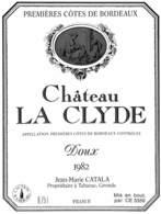 Château La Clyde, Premières Côtes De Bordeaux 1982, Catal, Tabanac - Etiquettes