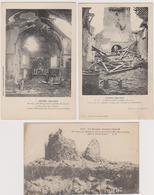 62  FONCQUEVILLERS  -  Lot 3 Cp Guerre 1914-1918 Moulin  -  CPA  N/B  9x14  BE Ferme Legrand Hebuterne - Frankrijk