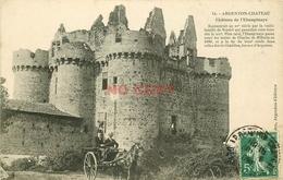 WW 79 ARGENTON-CHATEAU. Attelage Au Château De L'Ebaupinaye 1909 - Argenton Chateau