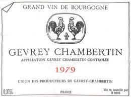 Gevrey Chambertin 1979 - Union Des Producteurs - Etiquettes