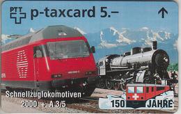 SUISSE - PHONE CARD - TAXCARD-PRIVÉE *** TRAIN - ZUG - 150 ANS / 8 *** - Schweiz