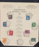 Niederlande Blatt Olympia 1928 - Summer 1928: Amsterdam