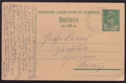 """Šamac - Sarajevo, 9"", Railway TPO Cancellation During Construction, July 1947 - 1945-1992 Socialist Federal Republic Of Yugoslavia"
