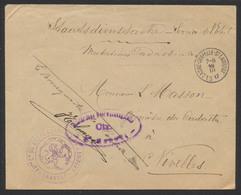"""Guerre 14-18 -  Lettre """"Service D'état"""" Obl SC Lasne-Chapelle-St-Lambert (1917) + Censure De Bruxelles Vers Nivelles - WW I"""