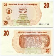 Zimbabwe - 5 Banknotes - 20 + 50 + 500 Dollars (2006) And 5 + 100 Dollars (2009) - Zimbabwe