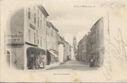 Pont-à-Mousson , Le 11 - 5 - 1904 Rue Saint-Laurent - Pont A Mousson