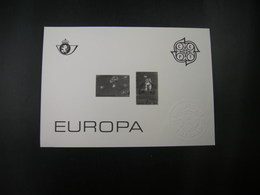 """BELG.1989 Z/W Blaadje  """"Europa 1989"""" Zegels 2323/24 - Feuillets Noir & Blanc"""