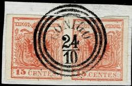 L.V. , Luxus - Paar , Zentr. Stp. , Schön!,  #a2839 - 1850-1918 Empire