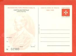 INTERI POSTALI  - SOVRANO ORDINE DI MALTA - S.M.O.M. -  MN 5 - 1995 - Malte (Ordre De)