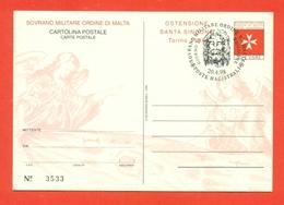 INTERI POSTALI  - SOVRANO ORDINE DI MALTA - S.M.O.M. -  MN 7 - 1998 - FDC - Malte (Ordre De)
