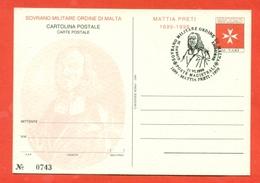 INTERI POSTALI  - SOVRANO ORDINE DI MALTA - S.M.O.M. -  MN 8 - 1999 - FDC - Sovrano Militare Ordine Di Malta