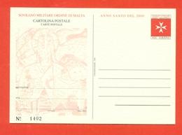INTERI POSTALI  - SOVRANO ORDINE DI MALTA - S.M.O.M. -  MN 9 - 2000 - - Sovrano Militare Ordine Di Malta
