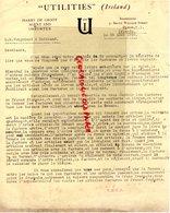 IRELANDE-IRELAND- RARE LETTRE HARRY DE GROOT IMPORTATER-DUBLIN- A GANTERIE VERGNIAUD RATINAUD SAINT JUNIEN 1928 - Reino Unido