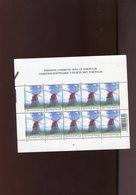 Belgie 2002 Nr 3092 Portugal JOINT ISSUE Windmills OLV Lombeek Roosdaal Acores Volledig Vel Plaatnummer 1 - Feuillets