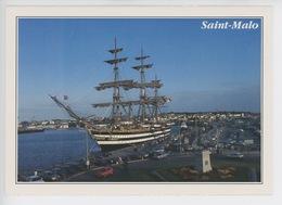 Amerigo Vespucci En Escale à Saint Malo (cp Vierge N°949/35 Dubray) - Voiliers