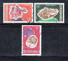 APR2173 - COTE COSTA D'AVORIO 1972 , Serie Yvert N. 337/339 Usata  (2380A) Conchiglie Coquillages - Costa D'Avorio (1960-...)