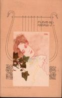 ! Jugendstil Künstlerkarte Fleur De Chemin V, Raphael Kirchner,  Art Nouveau, Verlag Beck & Schmitt, Wien No. 1030 - Kirchner, Raphael
